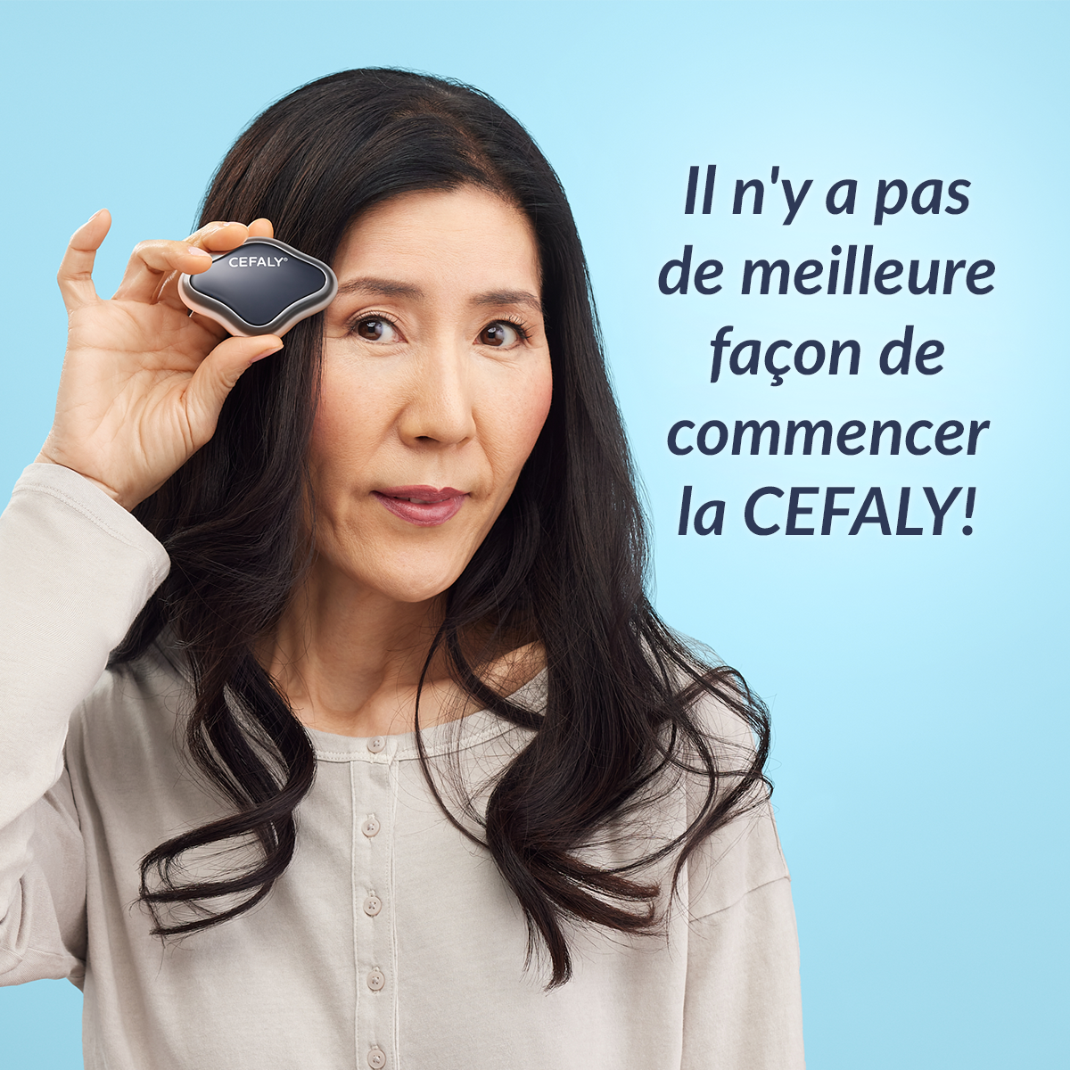 Photo du dispositif CEFALY de traitement et prévention de la migraine, sans électrode 2
