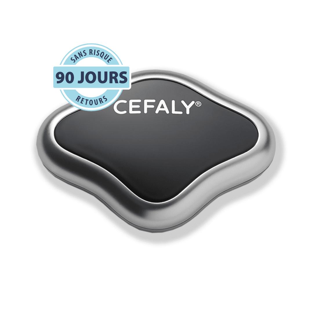 Éléments fournis avec le dispostif de traitement et prévention de la migraine CEFALY 1
