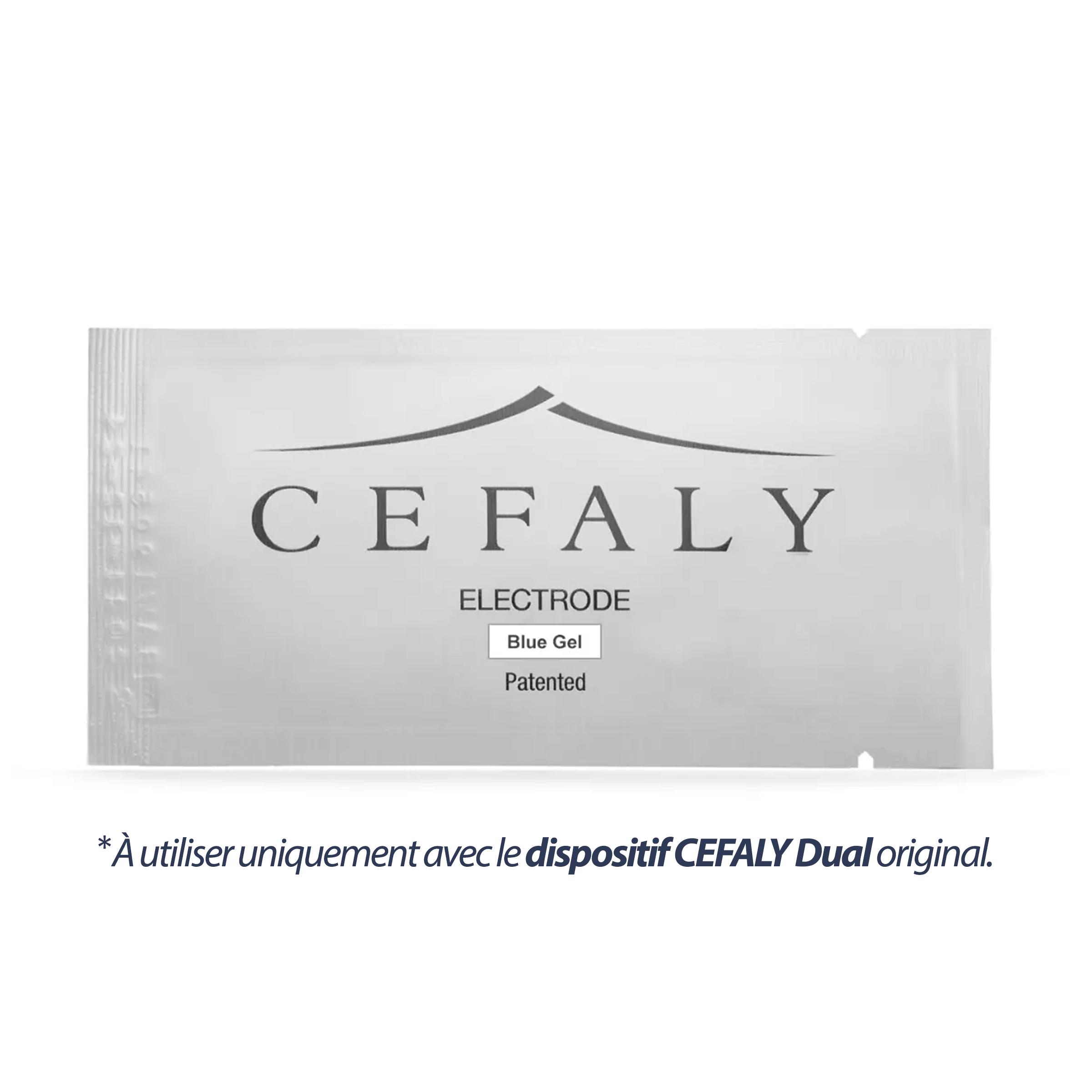 Électrodes  à gel bleu CEFALY - Trousse de 3