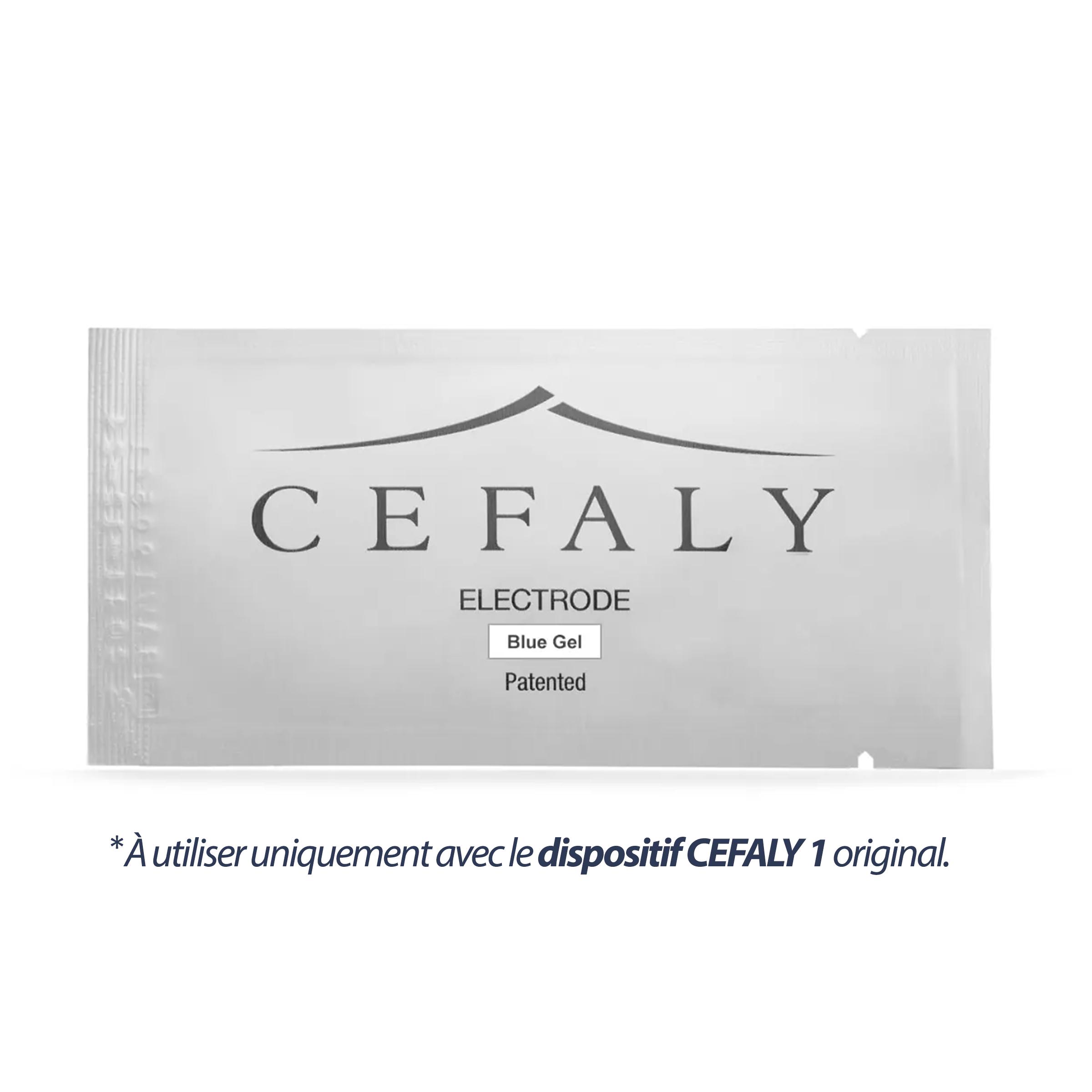 Électrodesà gel bleu CEFALY1 - Trousse de3